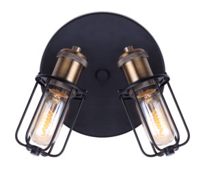 Wall Sconce Lighting industrial VOX Canarm ICW704A02BKG