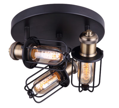 Wall Sconce Lighting industrial VOX Canarm ICW704A03BKG