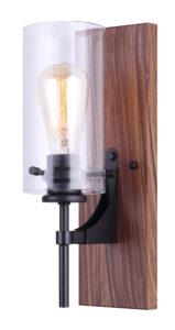 Wall Sconce Lighting Modern ARLIE Canarm IVL710A01BKW