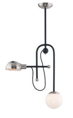 Pendant Lighting Modern MINGLE Maxim 21664WTBKSN