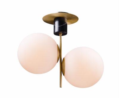 Flush mount Lighting Modern VESPER Maxim 26032SWSBRBK