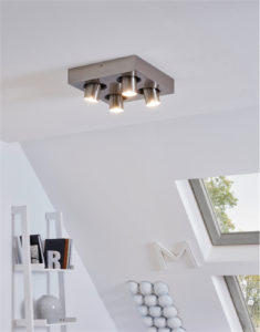 Track Lighting Modern ROBLEDO 1 Eglo 96608A in the living room with whites walls and windows