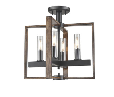 Flush mount Lighting Transitional BLAIRMORE Dvi DVP30211GR-IW-CL