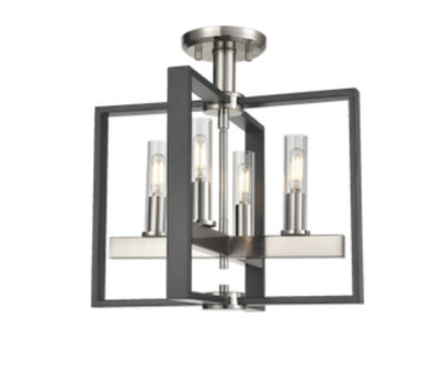Flush mount Lighting Transitional BLAIRMORE Dvi DVP30211SN-GR-CL