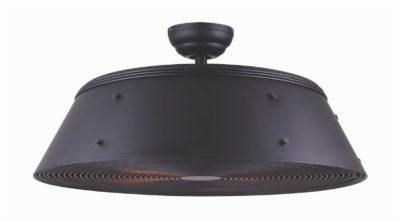 Ventilateur de plafond moderne ANDI Canarm CF28AND3BK