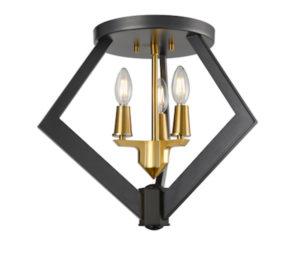 Luminaire plafonnier transitionnel FLECHETTE DVI DVP40132BR-GR