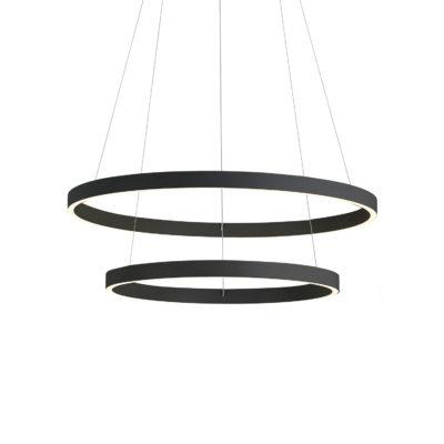 Luminaire suspendu moderne CERCHIO Kuzco CH86224-BK