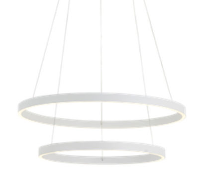 Luminaire suspendu moderne CERCHIO Kuzco CH86224-WH