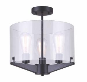 Luminaire plafonnier moderne JONI Canarm ISF759A03BK