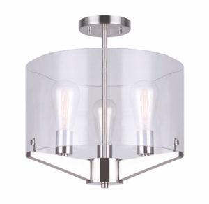 Luminaire plafonnier moderne JONI Canarm ISF759A03BN