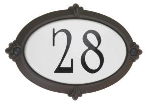 Plaque d'adresse classique Snoc 1723-2-6-10-11-19-20-21-29-38-39-40-42-44