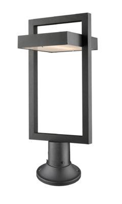 Luminaire extérieur moderne LUTTREL Z-Lite 566PHBR-553PM-BK-LED