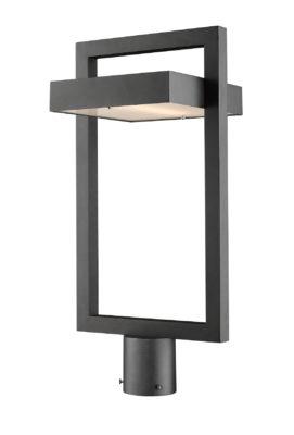 Luminaire extérieur moderne LUTTREL Z-Lite 566PHBR-BK-LED