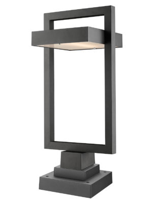 Luminaire extérieur moderne LUTTREL Z-Lite 566PHBS-SQPM-BK-LED
