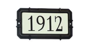 Plaque d'adresse moderne Snoc 1721-2-6-10-11-19-20-21-29-38-39-40-42-44