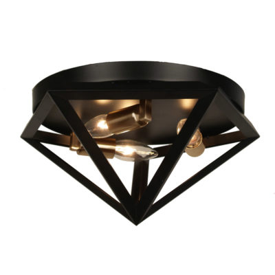 Luminaire plafonnier transitionnel ARCHELLO Dainolite ARC-123FH-AB