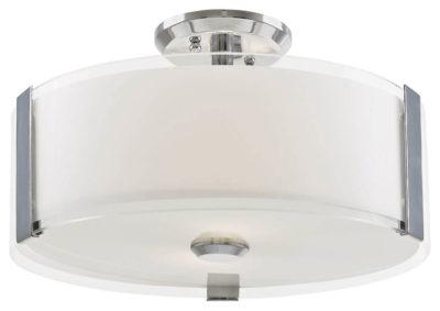 Luminaire semi-plafonnier contemporain ZURICH Dvi DVP14511CH-SS-OP