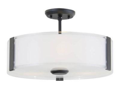 Luminaire semi-plafonnier contemporain ZURICH Dvi DVP14511GR-SS-OP
