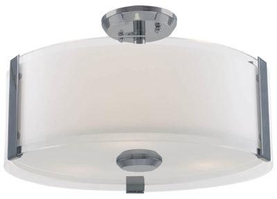 Luminaire semi-plafonnier contemporain ZURICH Dvi DVP14511SN-SS-OP