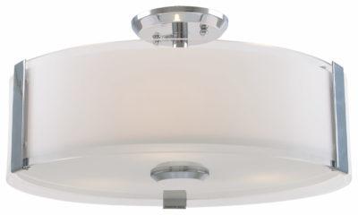 Luminaire semi-plafonnier contemporain ZURICH Dvi DVP14594CH-SS-OP