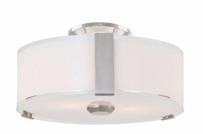 Luminaire semi-plafonnier contemporain ZURICH Dvi DVP14594SN-SS-OP