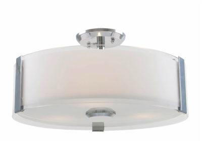 Luminaire semi-plafonnier contemporain ZURICH Dvi DVP14596CH-SS-OP