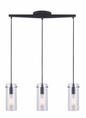Luminaire suspendu moderne JONI Canarm IPL759A03BK