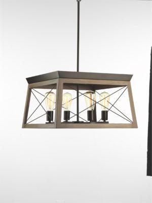 Luminaire suspendu rustique traditionnel BRIARWOOD Progress P400047-020