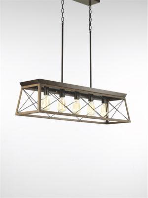Luminaire suspendu rustique traditionnel BRIARWOOD Progress P400048-020
