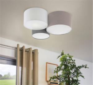 Luminaire plafonnier moderne PASTORE Eglo 203213A dans un salon moderne