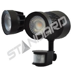 Éclairage de sécurité moderne DEL avec détecteur de mouvement Standard 64600