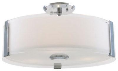 Luminaire semi-plafonnier contemporain ZURICH Dvi DVP14512CH-SS-OP