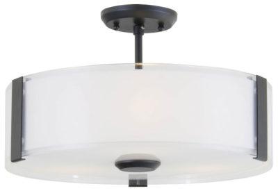 Luminaire semi-plafonnier contemporain ZURICH Dvi DVP14512GR-SS-OP
