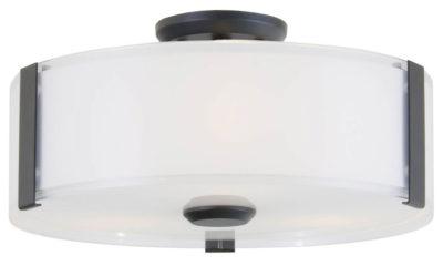 Luminaire plafonnier contemporain ZURICH Dvi DVP14532GR-SS-OP
