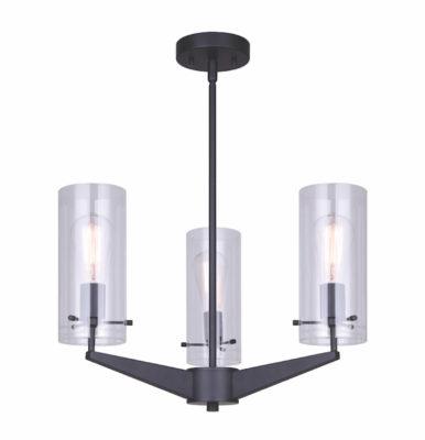 Luminaire suspendu moderne JONI Canarm ICH759A03BK