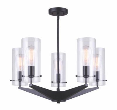 Luminaire suspendu moderne JONI Canarm ICH759A05BK