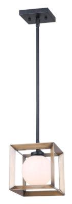 Luminaire suspendu moderne LEO Canarm IPL738A01BKG9