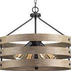 Luminaire suspendu rustique GULLIVER Progress p500023-143