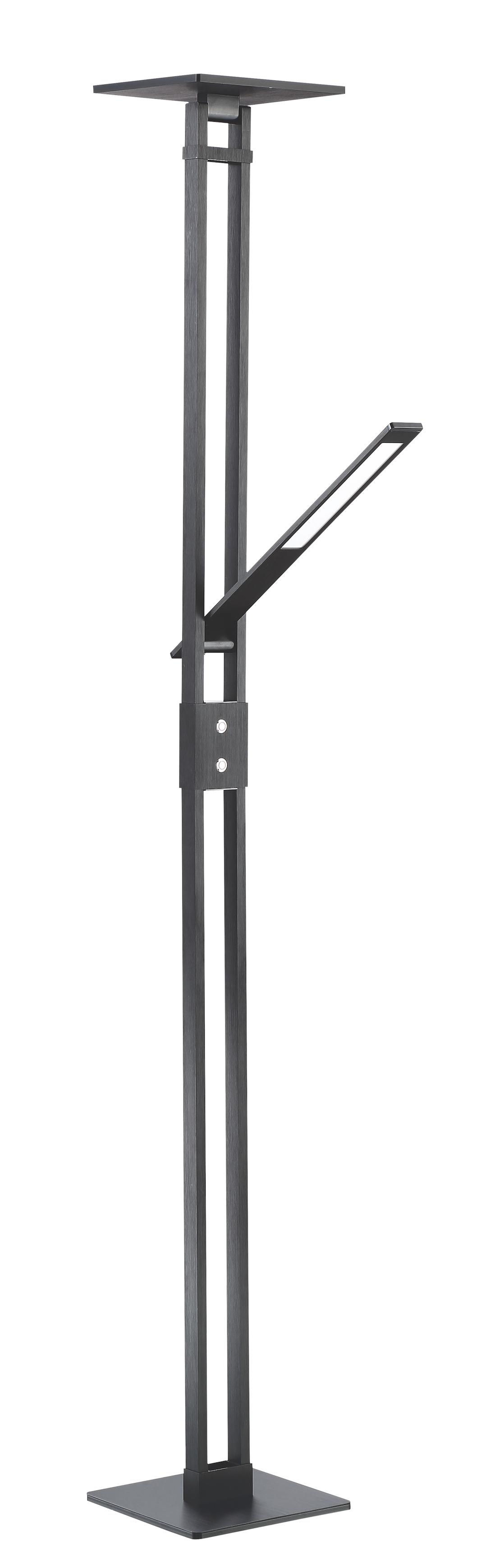Lampe de plancher moderne VARR Kendal TC5001-BLK