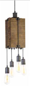 Luminaire suspendu transitionnel TIMBER LODGE DVI DVP42448