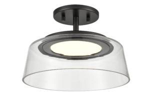 Luminaire plafonnier transitionnel TRIPTYCH DVI DVP46720GR-CL