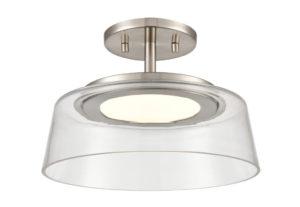 Luminaire plafonnier transitionnel TRIPTYCH DVI DVP46720SN-CL