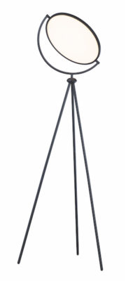 Lampe de plancher moderne PADDLE maxim ET2 E23299-BK