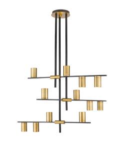 Luminaire suspendu moderne CALUMET Z-Lite 814-12MB-OBR