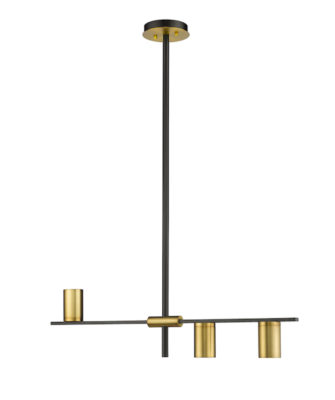 Luminaire suspendu moderne CALUMET Z-Lite 814-3L-MB-OBR