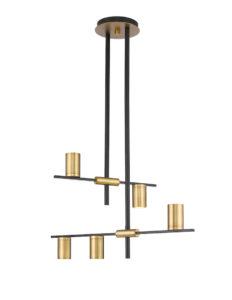 Luminaire suspendu moderne CALUMET Z-Lite 814-5MB-OBR