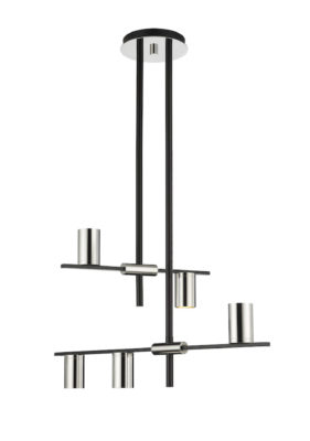Modern pendant CALUMET Z-Lite 814-5MB-PN