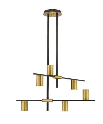 Modern pendant CALUMET Z-Lite 814-6MB-OBR