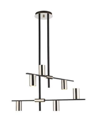 Modern pendant CALUMET Z-Lite 814-6MB-PN