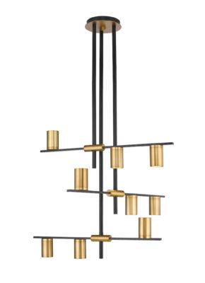 Modern pendant CALUMET Z-Lite 814-9MB-OBR